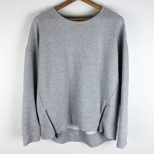 Athleta cityscape sweatshirt gray zippers 0382